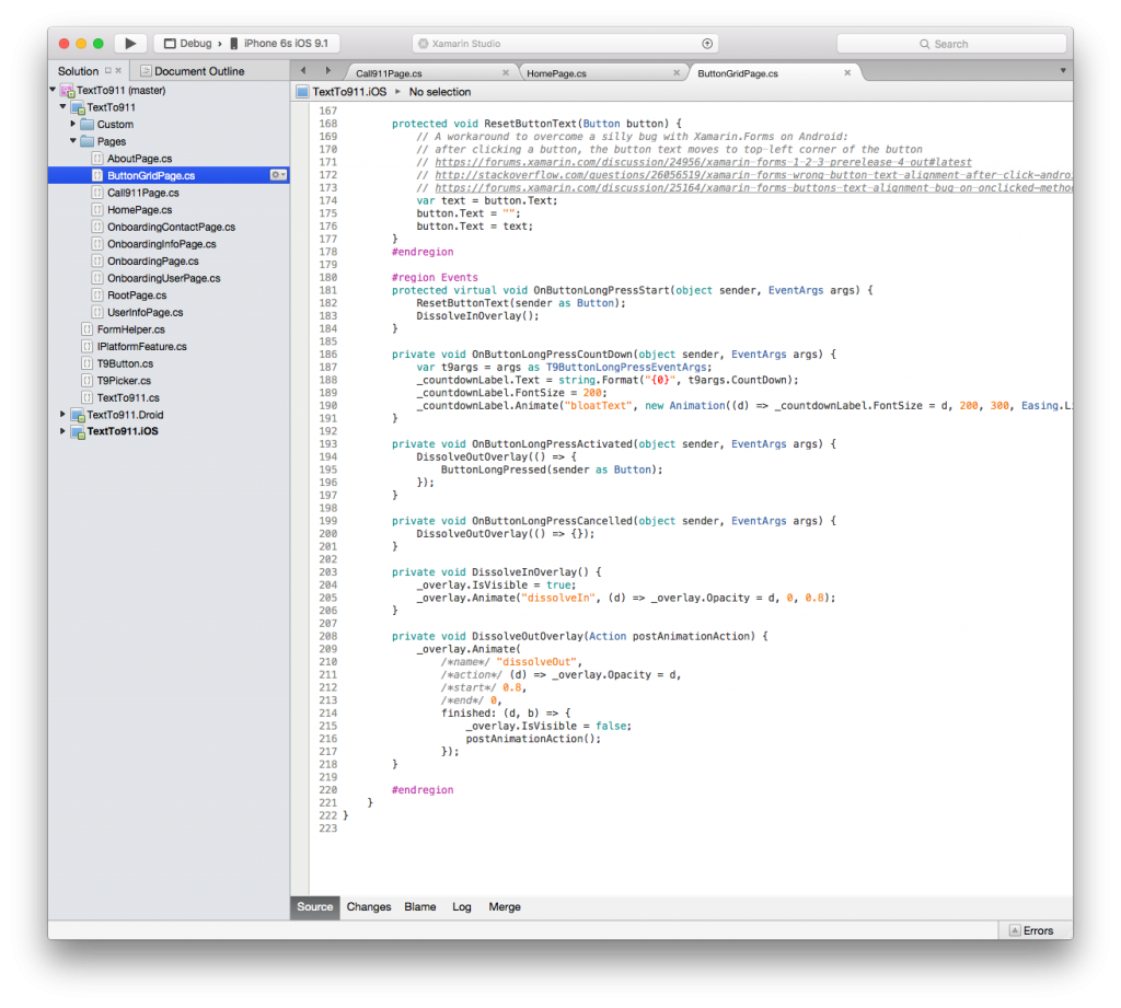 The core logic is written in C#, a clean and concise programming language, shared across iOS and Android